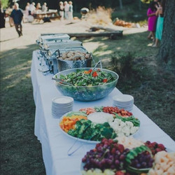 Salad Buffet Line Setup