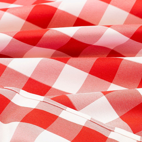 10' Rectangular ~ Red & White Checkered