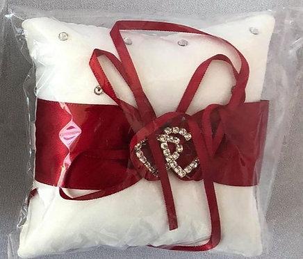 Small Rhinestone Heart Ring Holding Pillow