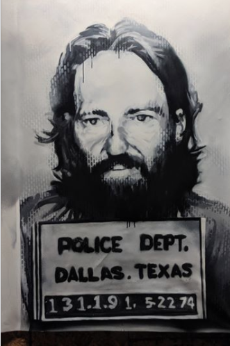 Willie Nelson 1974 Mugshot