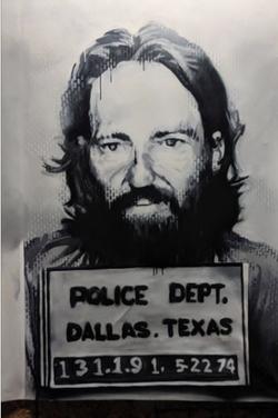 Willie Nelson 1974 Mugshot