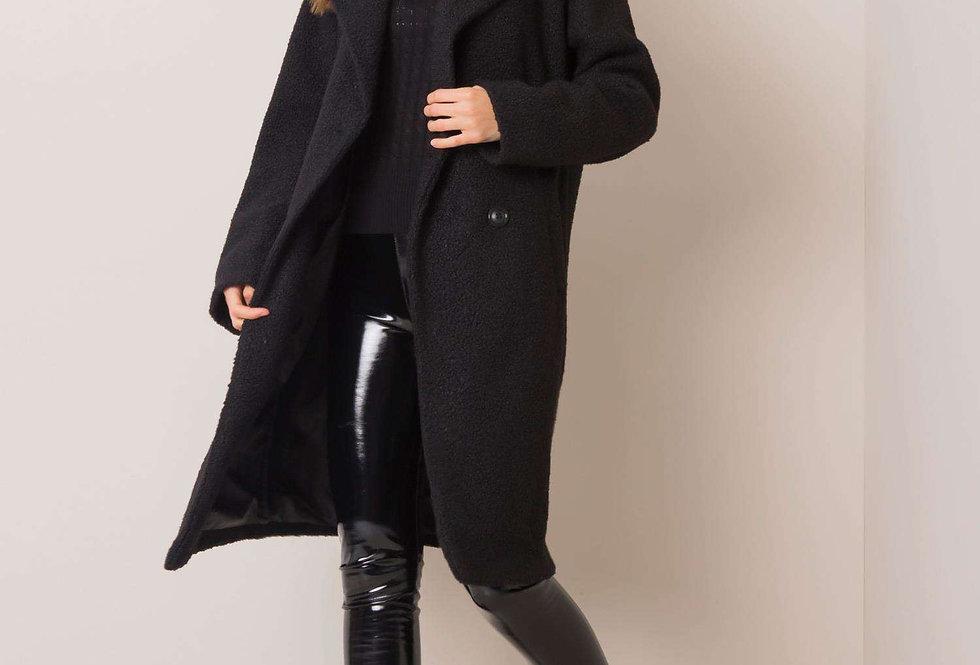 Czarny płaszcz Demi