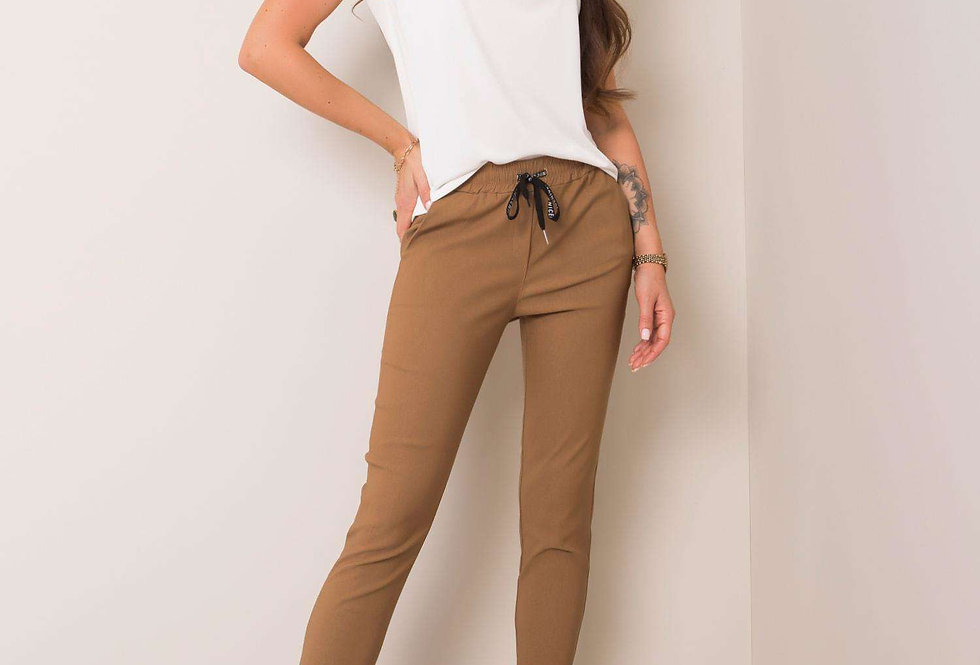 Ciemnobeżowe spodnie Reina
