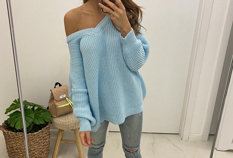 Sweter Avery błękitny