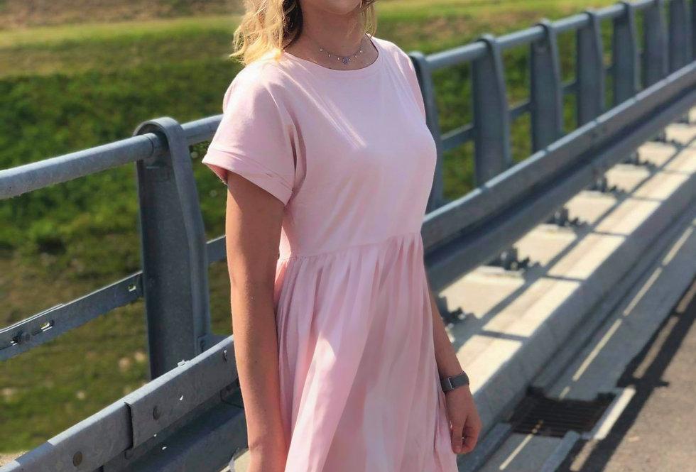 Jasnoróżowa sukienka Dita RUE PARIS