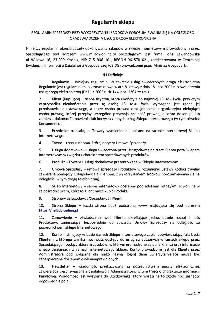 Regulamin sklepu_Milady-online_2_Strona_