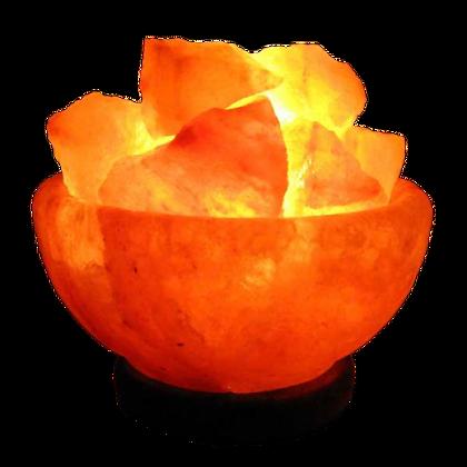 Fire Ball Chunk Salt Lamp