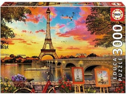 Educa Pôr-do-sol de sol em Paris (3000 pçs)