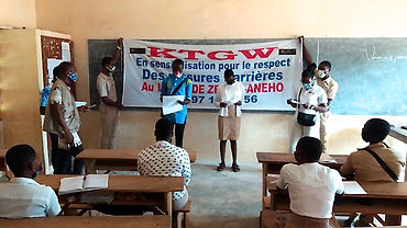 Kampagne Sensibilisation in Schulklasse