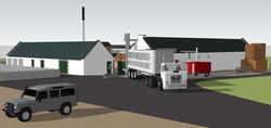 CGI of a craft distillery