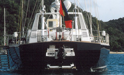 Stern with tender