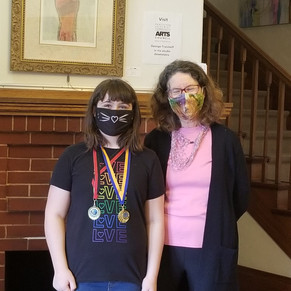 Speech Arts Student, Georgia Beatty, Receives 2 Medals for Outstanding Performances