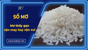 Mơ thấy gạo mang may mắn hay rước vận xui?