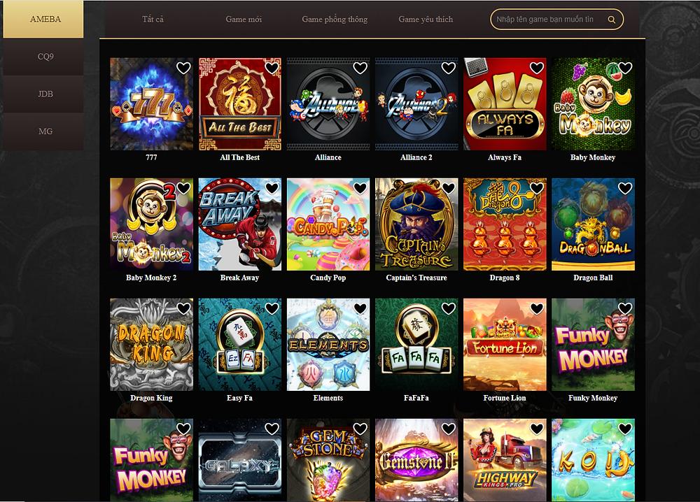 Hệ thống trò chơi Slot Game tại ST666