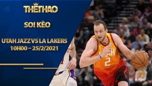 Kèo bóng rổ – Utah Jazz vs LA Lakers – 10h00 – 25/2/2021