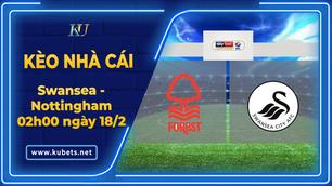 Kèo nhà cái - Swansea vs Nottingham, 02h00 ngày 18/2, Hạng Nhất Anh