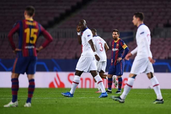 Messi bất lực nhìn Barca thua thảm PSG mà không có sự phản kháng đủ tốt