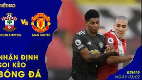 Nhận định – Soi kèo Manchester United vs Southampton 03h15 - 03/02/2021