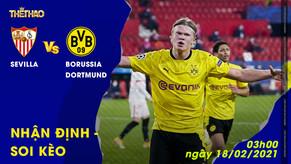 Nhận định – Soi kèo Sevilla vs Borussia Dortmund 18/02/2021 – 3h00