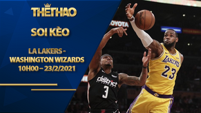 Kèo bóng rổ – LA Lakers vs Washington Wizards – 10h00 – 23/2/2021