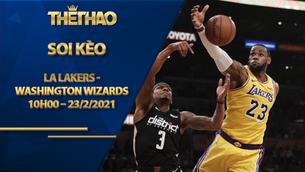 Kèo bóng rổ – LA Lakers vs Washington Wizards – 10h00 – 23/2/2021