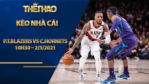 Kèo bóng rổ – Portland Trail Blazers vs Charlotte Hornets – 10h30 – 2/3/2021