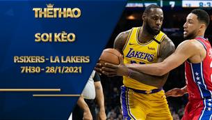 Kèo bóng rổ – Philadelphia Sixers vs LA Lakers – 7h30 – 28/1/2021