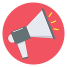 Icon of megaphone, signifying Reach Wide with PlaceBuilder