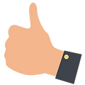 Icon of Thumbs Up, signifying Build Trust with PlaceBuilder