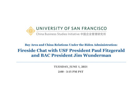 Bay Area and China Relations Under the Biden Administrations