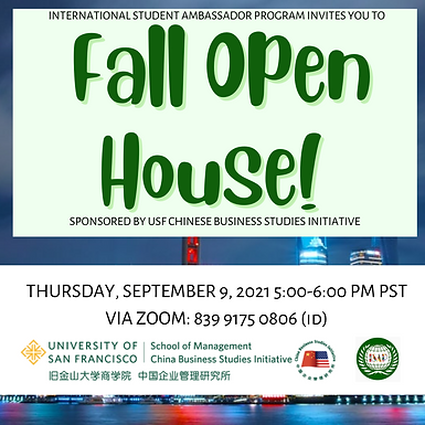 FALL OPEN HOUSE!