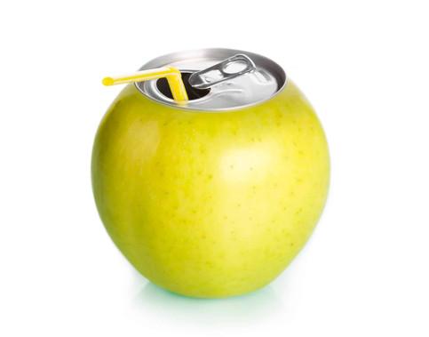 Apfel-Dosenoeffnung-Strohhalm-konzeption