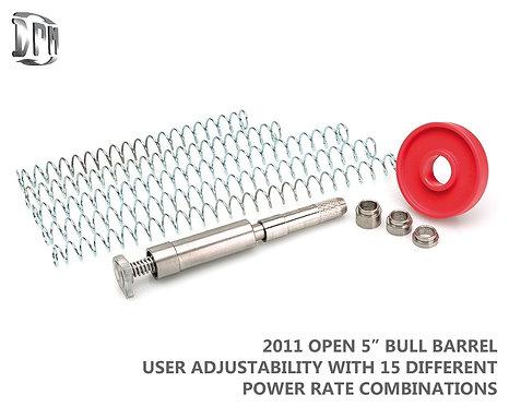 "2011 OPEN 5"" BULL Barrel 15 User Adjustable Settings"