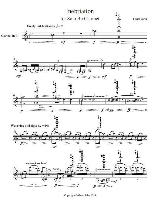 Inebriation | solo Bb clarinet