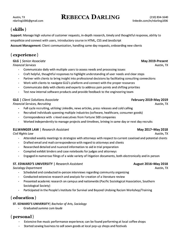 RDarling Resume Support Specialist (2) (