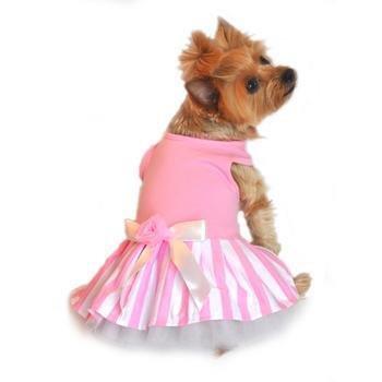 Pink Striped Tank Dress