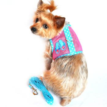 Cool Mesh Harness - Flip Flop Pink and Ocean Blue