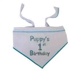 Puppys First Birthday - Blue