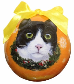 Christmas Ornament - Cat - Black & White