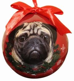 Christmas Ornament - Pug