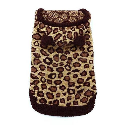 Leopard Hoodie Sweater