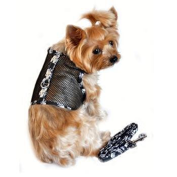 Skull Cool Mesh Dog Harness with Lease