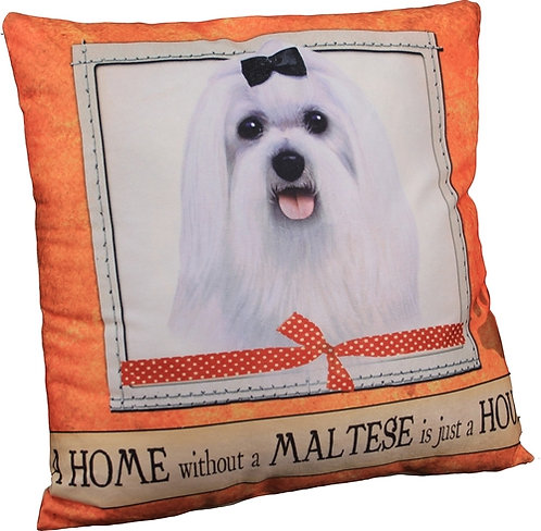 Plush Pillow - Maltese