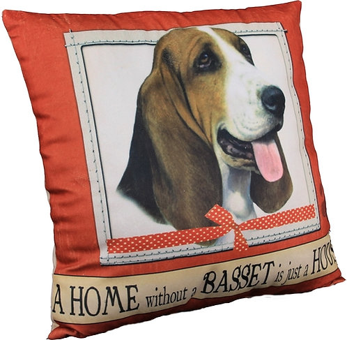 Plush Pillow - Basset Hound
