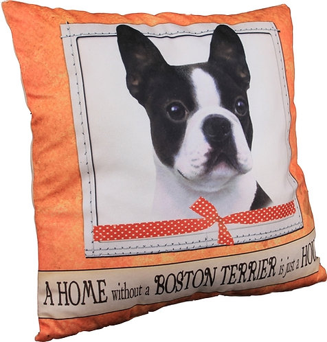 Plush Pillow - Boston Terrier