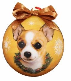 Christmas Ornament - Chihuhua - Tan