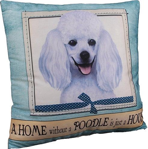Plush Pillow - Poodle (White)
