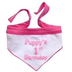 Puppys First Birthday - Pink