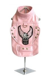 """The Pink """"Born To Ride"""" Motorcycle Harness Jacket"""