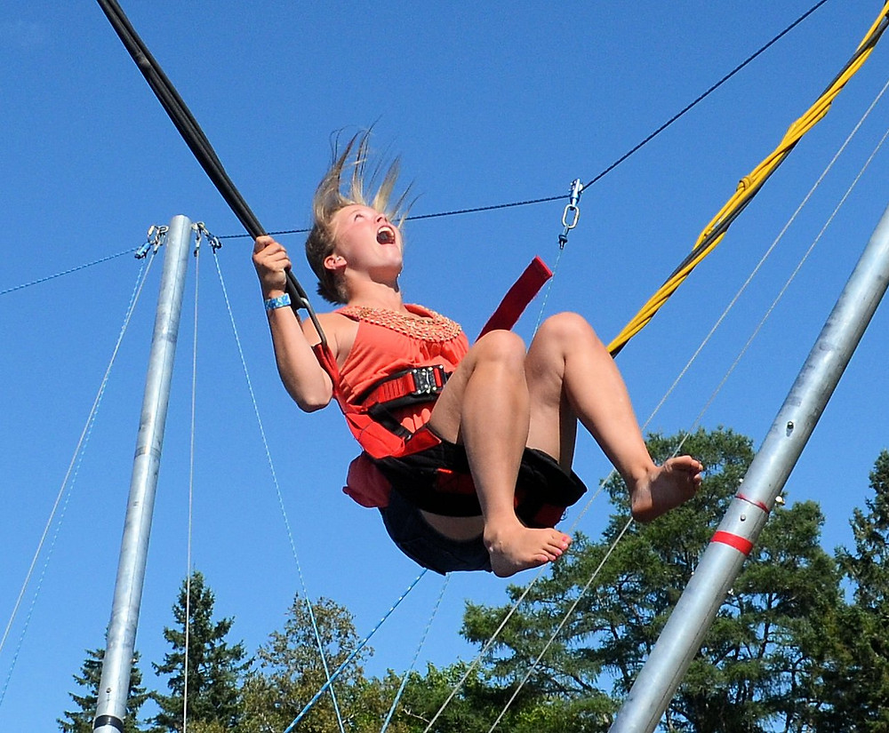 Bungee jumping at the 167th Springfield Agricultural Fair - Springfield, Maine